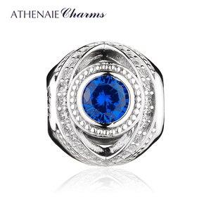 Image 2 - ATHENAIE 925 เงินสเตอร์ลิงWatchful Eye Blue CLEAR CZลูกปัดยุโรปกำไลข้อมือสตรีเครื่องประดับคริสต์มาสของขวัญ