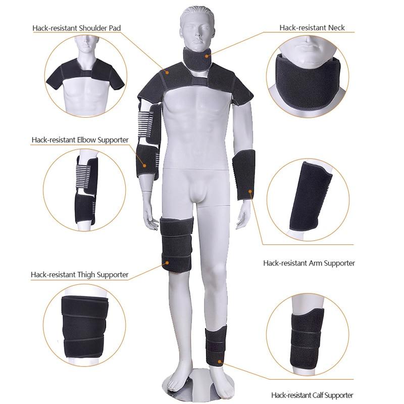 equipamento de protecao anti facada pescoco protetor ombro 01