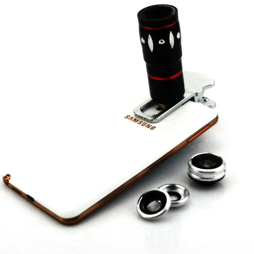 Universal Clip 10X Optical Zoom Telescope Fish Eye Macro Wide Angle Camera Mobile Phone Lens Samsung Galaxy Note 3 Neo Mini - Sky Digital store
