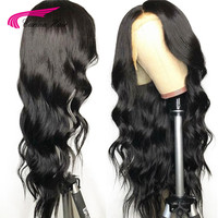 Transparent Lace Front Human Hair Wigs Brazilian Remy Glueless Pre Plucked Natural Black Front Lace Hair Wig Bleached Knots