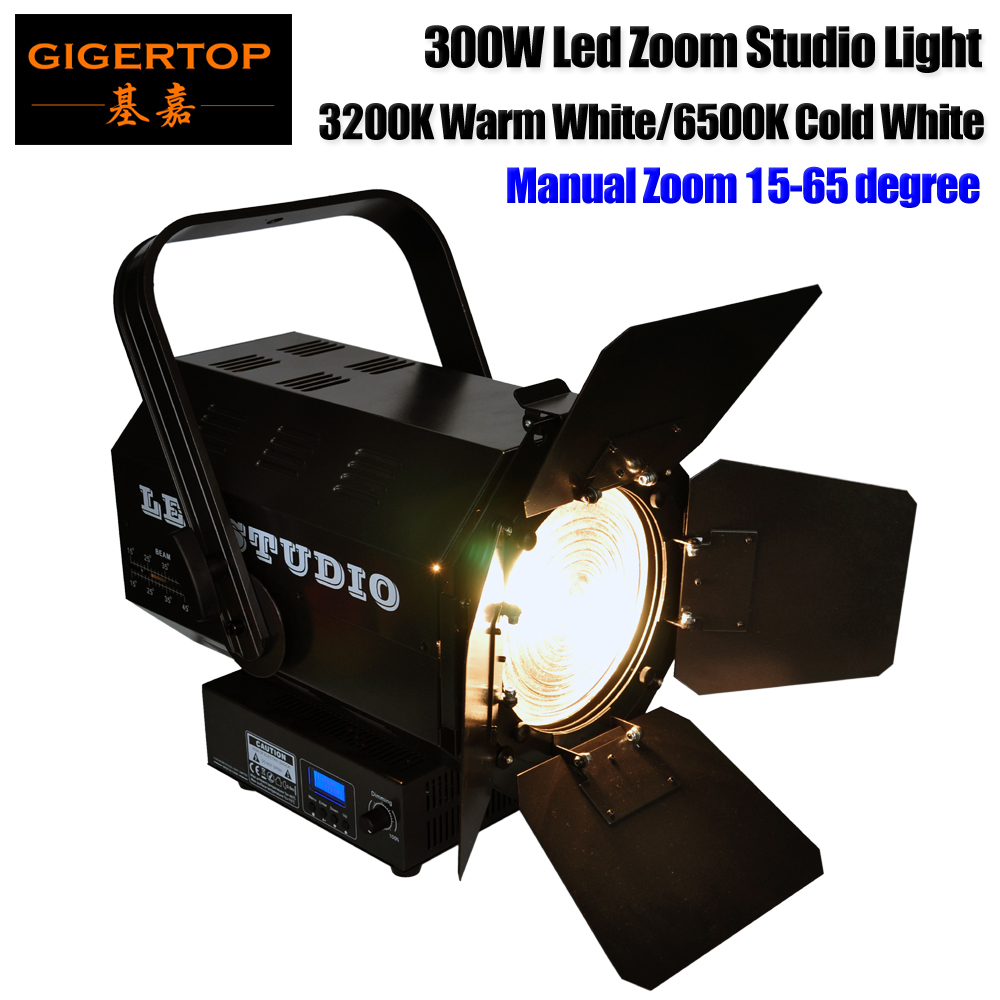 Freeshipping White Color 300W Led Manual Zoom Studio Movie Stage Light Fresnel Lens Smooth No Flicker Manual Dimmer Roller doumoo 330 330 mm long focal length 2000 mm fresnel lens for solar energy collection plastic optical fresnel lens pmma material
