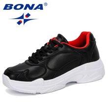 Женские кроссовки на толстой подошве bona черные платформе из