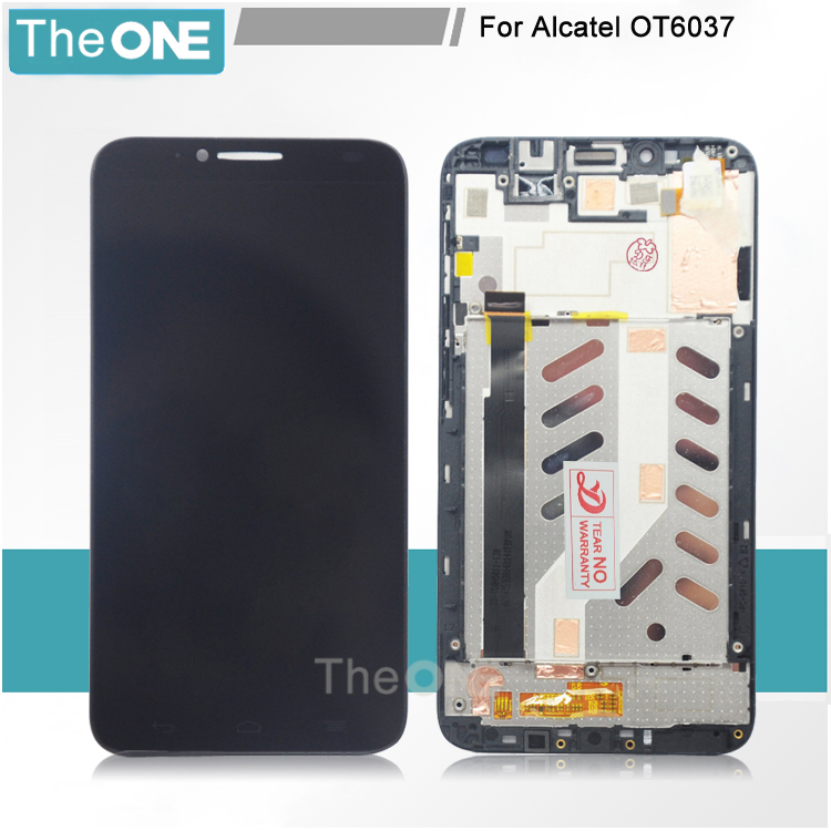 For Alcatel One Touch Idol 2 6037 OT6037 6037B 6037L LCD Display Screen Touch Digitizer Assembly with Frame