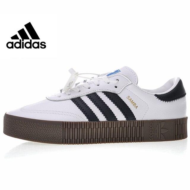 ... coupon for adidas originals samba rosa hombres y mujeres zapatos de skate  zapatos negro blanco alta 66003771292