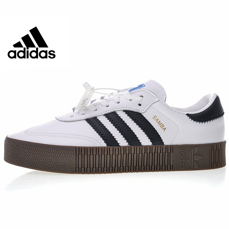 Adidas Originals Samba Rose Men and Women Skateboarding Shoes, White/black,High Quality Lightweight Wear Resistant AQ1134 AQ1156 цена