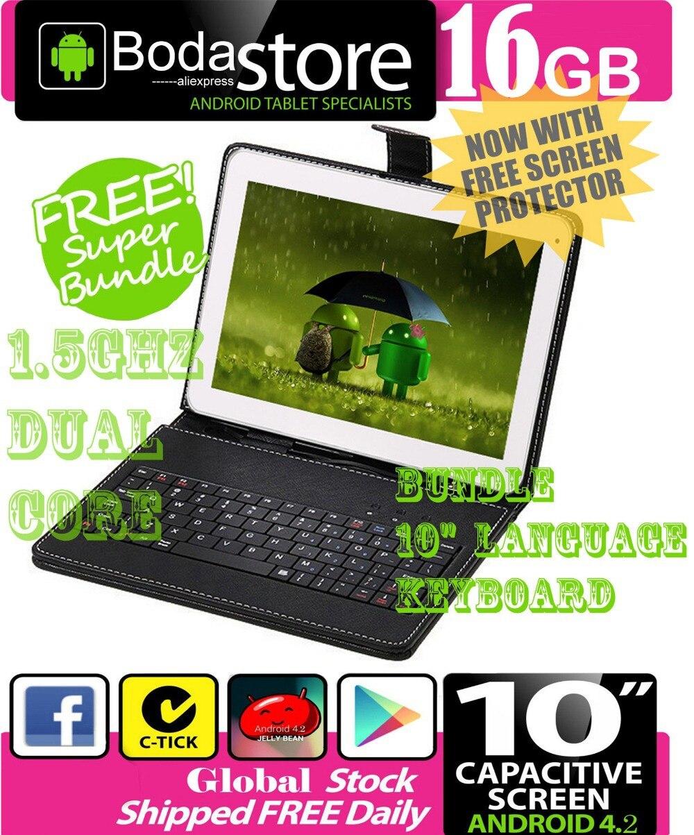 10,2 De 10,1 Pulgadas 16 Gb Google Android 4,4 Tablet Pc Pantalla Capacitiva E Lector De Tab Paquete 10 Teclado FáBricas Y Minas