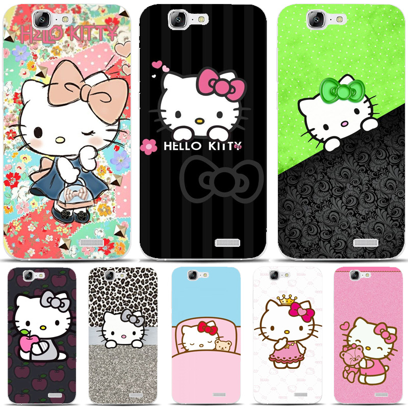 G471 Doraemon And Hello Kitty Transparent Hard Thin Skin Case Cover For Huawei P 6 7 8 9 10 Lite Plus Honor 6 7 8 4C 4X G7
