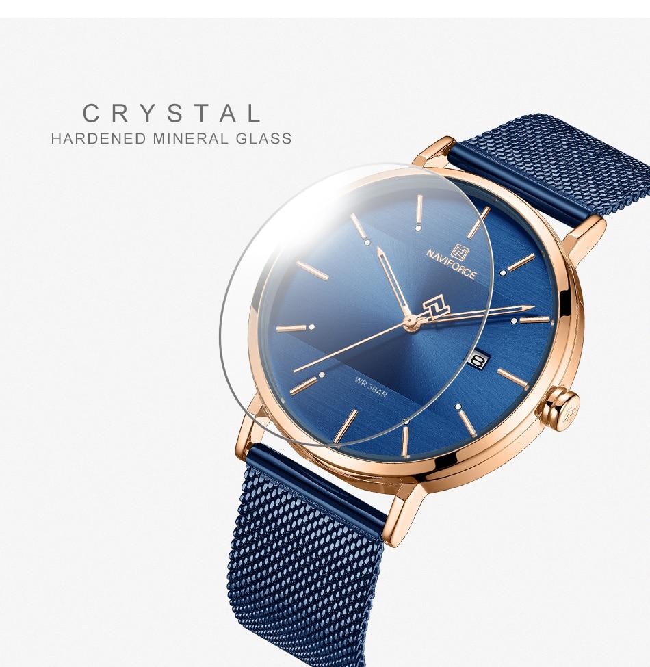 NAVIFORCE New Stylish Women Watches Top Brand Luxury Stainless Steel Strap Quartz Wristwatch For Woman Bracelet Watch 2019 Gift (8)
