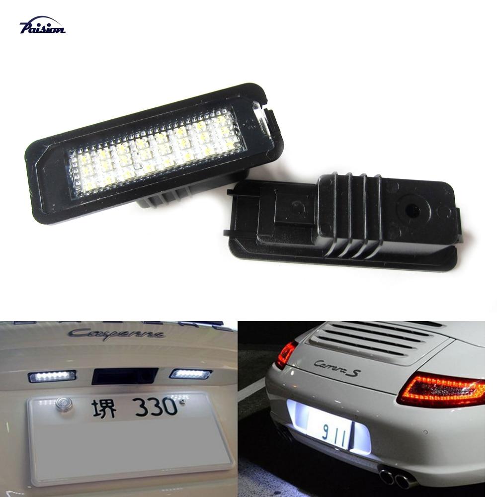 24SMD LED Number License Plate Light Kit For Porsche ...