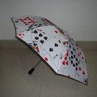 Deluxe Jumbo Parasol Productie (Kaart Ontwerp, 37 inch) 3 Fold Paraplu Productie Goocheltrucs Podium Magie Gimmick Props