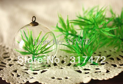 Stks groen gras diy versieren stuff glass cover dome vial