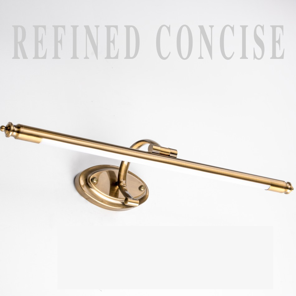 51/62 CM salle de bains miroir lampe étanche rétro Bronze armoire vanité miroir lumières mur LED lampe salle de bains éclairage or ZJQ0010