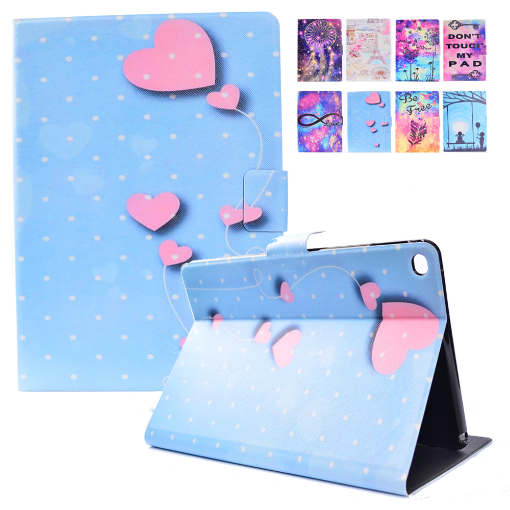 For Apple iPad Air 2 Case Print Flip Folio Stand Case Cover with Auto Sleep Wake for iPad 6 iPad Air2 Smart Cover TPU Back Skin for ipad air 2 air 1 case slim pu leather silicone soft back smart cover sturdy stand auto sleep for apple ipad air 5 6 coque