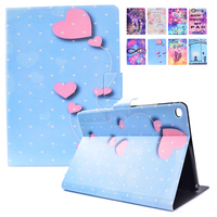 For Apple IPad Air 2 Case Print Flip Folio Stand Case Cover With Auto Sleep Wake