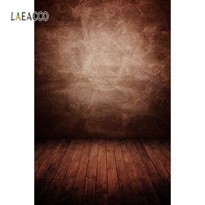 Image 2 - Laeacco Gradient jednokolorowe drewniane podłogi Grunge tła do fotografii portretowej Baby Shower tło do zdjęć rekwizyty studyjne
