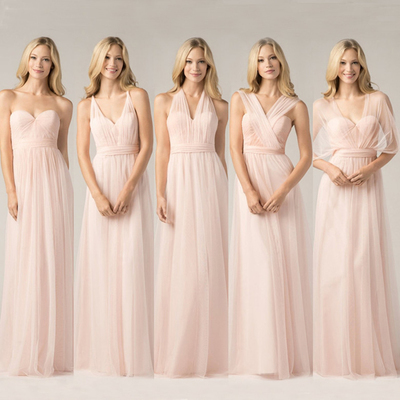 simple soft  sweetheart custom A-line convertible affordable bridesmaid dress cheap bridesmaid dress for women PD160038