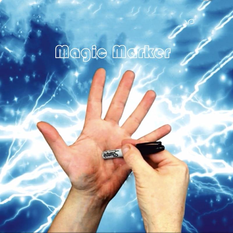 Unpredictable Marker Magic Tricks Bonus Routines Maker Pen Magic Props Change Long / Short / Go Throuht Hand Magic Trick