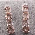 Morganite 925 Sterling Silver Earrings TE460