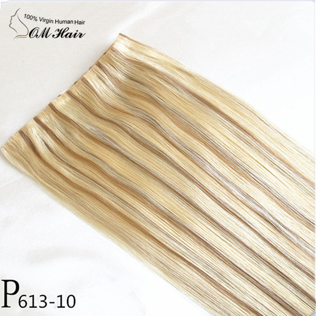 European Hair Hand Tied Pu Skin Weft Hair Weaving Tape Hair