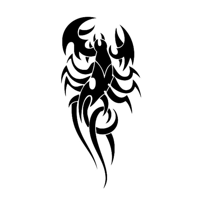 ᗜ lj 6 5 Cm 13 7 Cm Tatouage Tribal Scorpion Voiture Style Moto