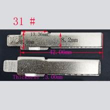 Флип дистанционного ключа автомобиля заготовки для AUDI Fit PASSAT сидение BORA SKODA#31 HU66 Ключ лезвия