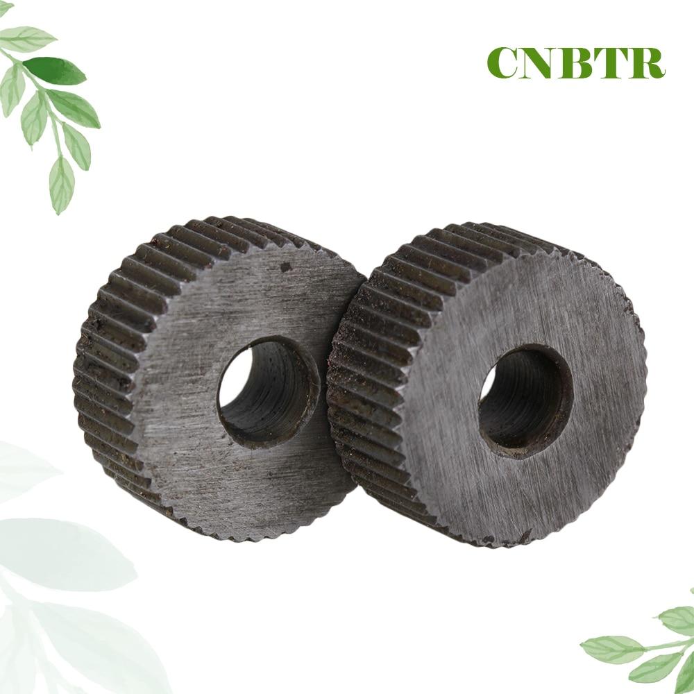 CNBTR 2pcs 1.2mm Pitch Knurling Tool Silver Single Straight Wheel Linear Knurling Wheel