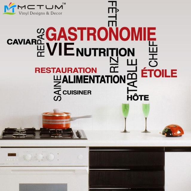 Buy mots cuisine wall sticker french for Stickers pour carrelage mural cuisine
