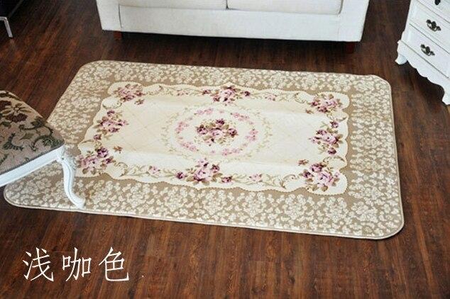 Rustique américain mode rose FL velours canapé tapis table basse chevet tapis antidérapant tapis
