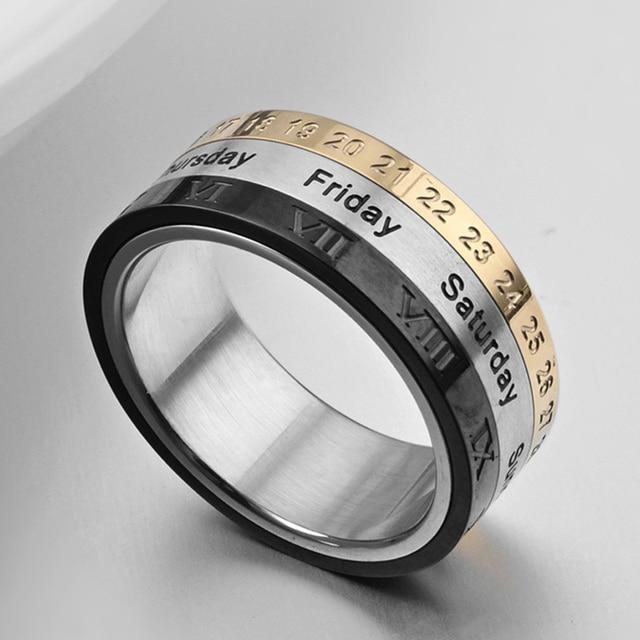 2017 New Date Spinner Ring Fidget For Men Women Valentines Day Gift Birthday Favor