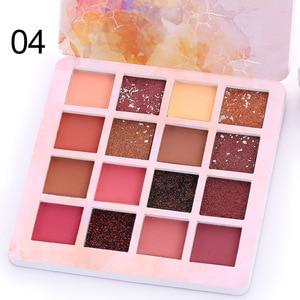 Image 5 - CmaaDu 16Colors Shimmer Glitter  Eye Shadow Makeup Matte Metal Waterproof Eyeshadow Palette Eyes Make Up Cosmetic TSLM2