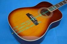 Freies verschiffen groß-und einzelhandel musik instrument neue orange akustische gitarre folk gitarre + schaumkasten F-1685