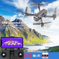 SJRC Z5 Квадрокоптер с HD 720 P/1080 P gps камера Дрон 2,4G/5G Wi Fi FPV высота удержания Следуйте за мной режим вертолета VS Visuo XS812