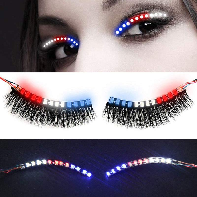 1 Pair Fashion <font><b>LED</b></font> Luminous Eyelash Light Up False Eye <font><b>Lash</b></font> Icon Party Club Bar Supplies Promotion Price