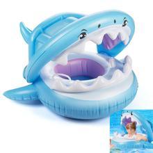 Детский бассейн купание и плавание поплавок с навесом надувной матрас плавать кольцо для детей безопасное сиденье водные игрушки аксессуары
