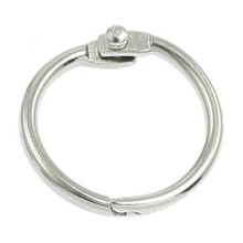 5 x металлическое кольцо для книг с отрывными листьями, серебряное кольцо для ключей