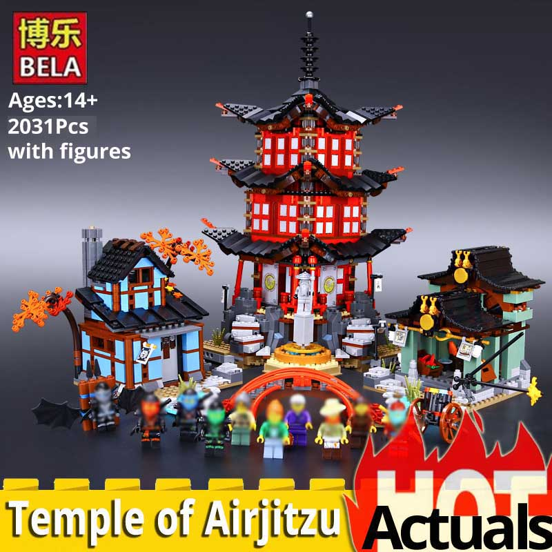 Oyuncaklar ve Hobi Ürünleri'ten Bloklar'de Ninja Go 10427 Büyük Airjitzu Tapınağı 2031 ADET ücretsiz kargo blokları boys Oyuncaklar hediye 70751 mimarlık DIY ev mininatures'da  Grup 1
