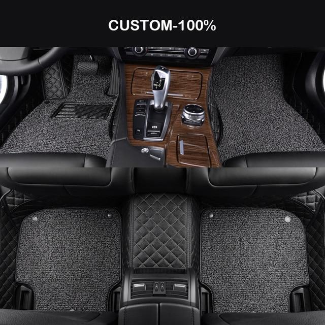 HLFNTF Double Custom car floor mats For Renault Kadjar Megane2 3 S.R Captur Latitude Fluence laguna