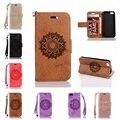 Teléfono case para samsung a3 a5 2016 mandala flor del teléfono case filp cubierta datura floral teléfono case