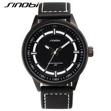 SINOBI 2016 de Marcas De Lujo Reloj Militar Hombres Analógico de Cuarzo Reloj de Cuero Correa de Lona Hombre Relojes Deportivos Militar Relogios masculino
