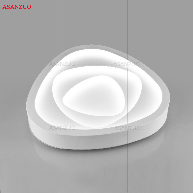 Image 4 - Creative triangle ceiling lights art LED ceiling lamp for Sitting room bedroom study corridor balcony with remote control-in Ceiling Lights from Lights & Lighting