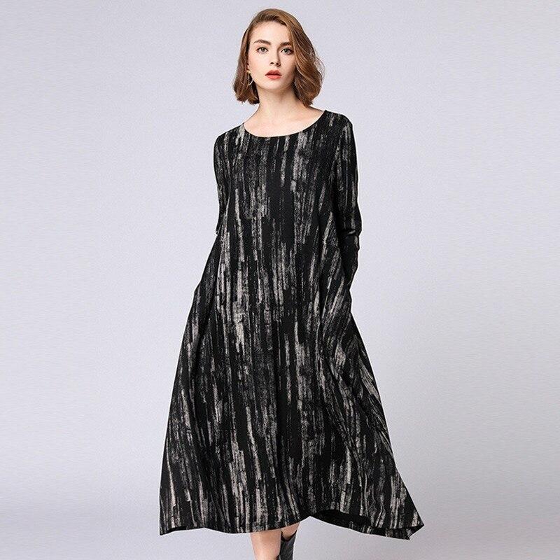 2018 Autumn Elegant Dress Loose Maternity Dress Casual Pregnancy Dress Print Plus Size Dress Striped Pockets Vestidos striped oversized dress