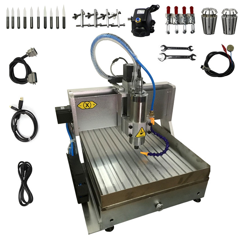 1.5KW CNC Engraving Machine 3040 Water Tank USB Parallel Port CNC Router Metal Cutter