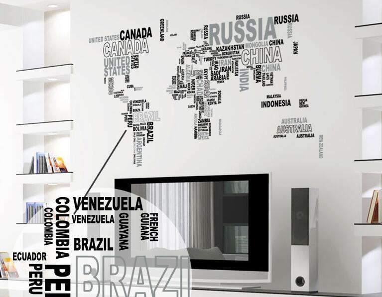 Nation Name Country Names World Map Decorative sticker Decal in