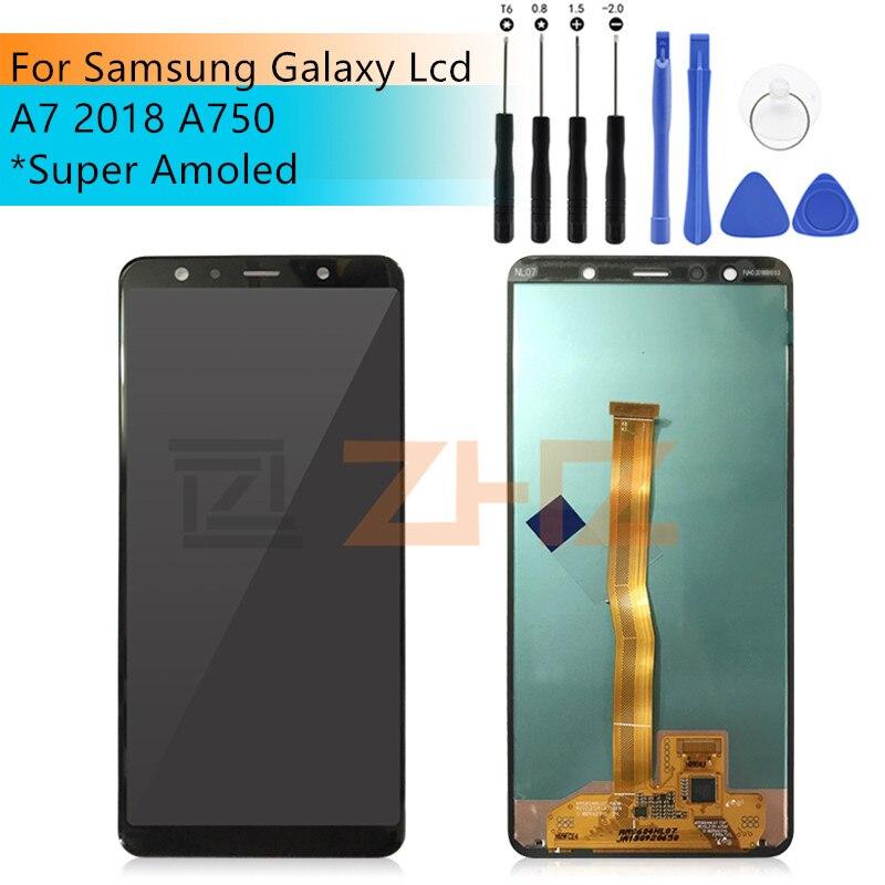 สำหรับ Samsung Galaxy A7 2018 จอแสดงผล LCD Touch Screen Digitizer ASSEMBLY SM A750F A750F A750 LCD A7 2018 อะไหล่ซ่อม-ใน จอ LCD โทรศัพท์มือถือ จาก โทรศัพท์มือถือและการสื่อสารระยะไกล บน AliExpress - 11.11_สิบเอ็ด สิบเอ็ดวันคนโสด 1
