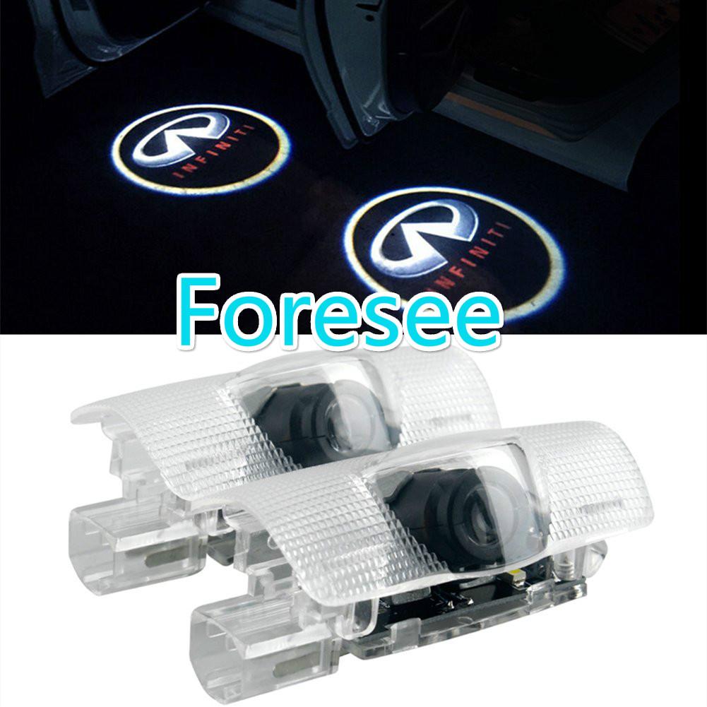 Foresee 2pcs ( For Infiniti) Car Door Lights LED Welcome Projector Logo Ghost Shadow Door Light LED Courtesy Laser