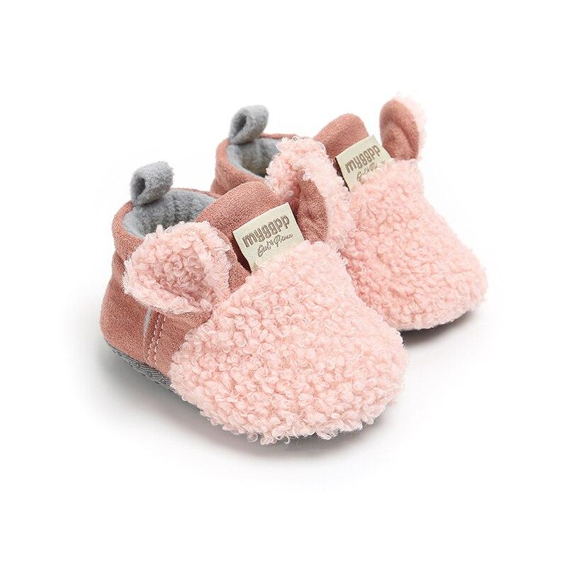 Baby Girls Shoes Newborn Infant Kids Ear Soft Sole Flock Prewalker Warm Casual Flats Cute Casual Winter Fashion New 2018