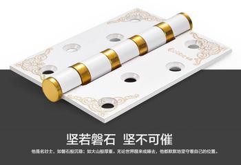 1 Pair Stainless steel hinge bearing flat open doors hinge folding folding sheet 4 inch thick monolithic