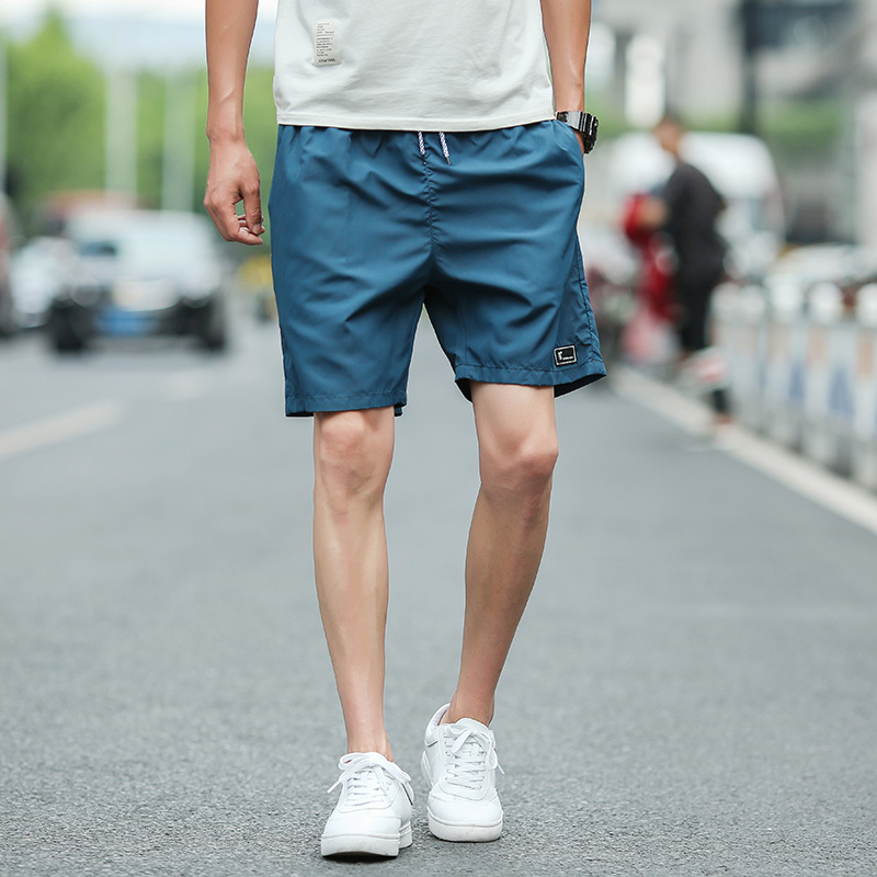2018 New Black Man Summer Korean Seven Part Pants Leisure Time Sandy Beach Personality City Boy Trend Exquisite Free shipping