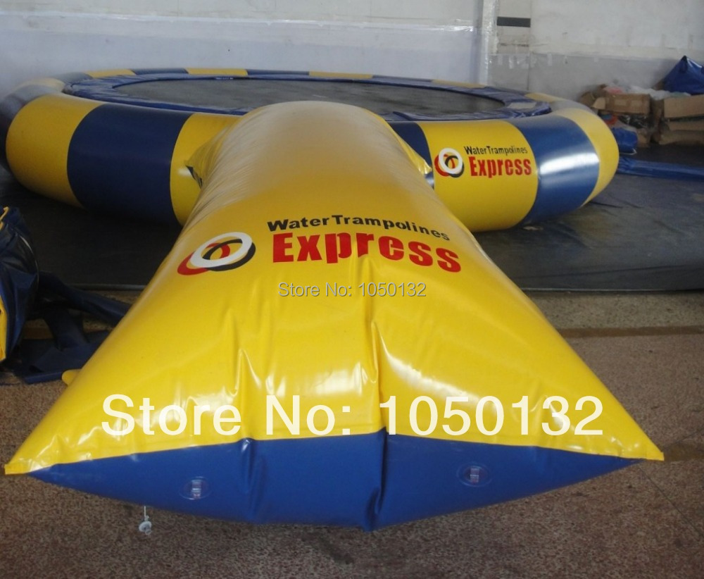 7*3m popular most exciting game durable inflatable water blob,water catapult for sales (only blob, without trampoline) blob blob big yellow
