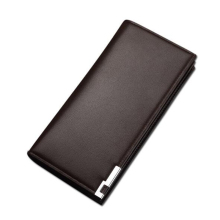 Leather mens long wallet, dollar multi-function wallet men, card bag leather